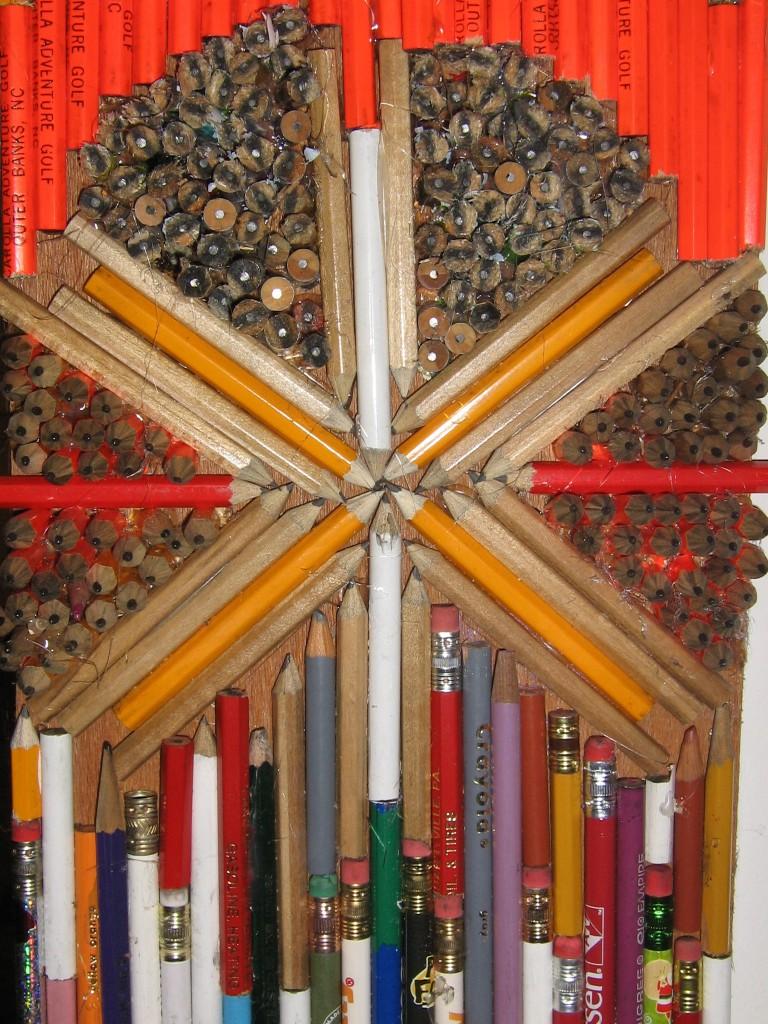 pencil archway mosaic