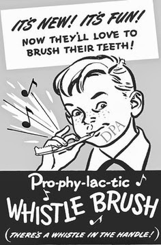 whistle toothbrush vintage ad